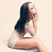 Portrait of elegant brunette woman — Stock Photo