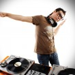 Dj playing disco house progressive electro music — Stock Photo #18448965