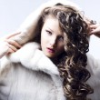 Beautiful lady in fur coat — Stock Photo #18449223