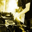 Dj playing disco house progressive electro music at the concert — Stock Photo #18449973