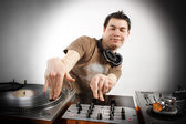 Dj playing — Stock Photo