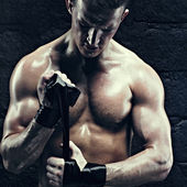 Man prepear to fighting. — Stock Photo