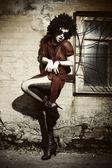 Foto de arte de moda. la hermosa joven — Foto de Stock