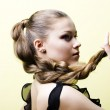 Elegant young blond girl — Stock Photo