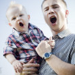 Father with son — Stockfoto