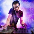 Dj playing at the concert — Stock Photo