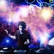 Dj playing disco house progressive electro music at the concert — Stock Photo #18451167