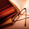 Stock Photo: Book and Glasses
