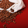 Fresh coffee beans background — Stock Photo