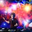 Dj playing disco house progressive electro music at the concert — Stock Photo #18451737