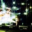 Stock Photo: Dj playing disco house progressive electro music at the concert