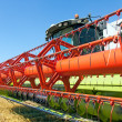 Combine harvester working on a wheat field — Stock Photo #29651349