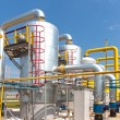 Stock Photo: Gas compressor station