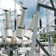 Electric power substation — 图库照片