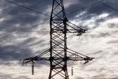 Věž přenos elektřiny — Stock fotografie