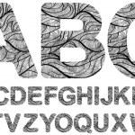 Постер, плакат: Ornamented letters