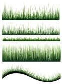 Vettore di erba — Vettoriale Stock