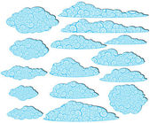 Ornamented clouds — Stock Vector
