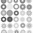 Ornamented circles - Stock Vector