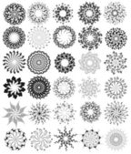 Ornamented circles — Stock Vector