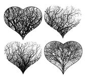Ornamented hearts — Stock Vector