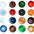 Collection of buttons — Stock Vector