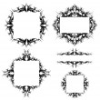 Stock Vector: Set of ornamented frames