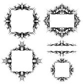 Set of ornamented frames — Stock Vector