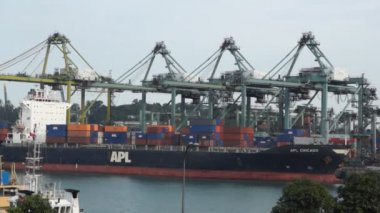 Singapore harbor — Stock Video