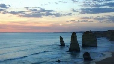 Ocean monuments: Twelve Apostles, time-lapse — Stock Video