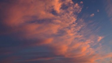 Sunset clouds — Video Stock