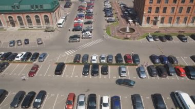 Car parking, time-lapse — Stock Video