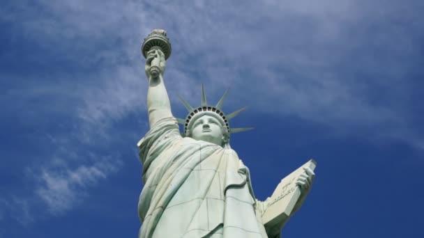 Estatua de la libertad, time-lapse — Vídeo de stock