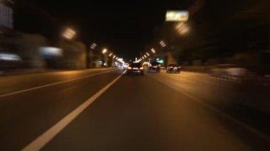 Night street racing — Stock Video