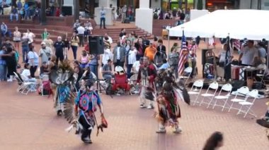 American Indian tribe dance, Portland — Stock Video