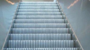 Hareketli yürüyen merdiven — Stok video