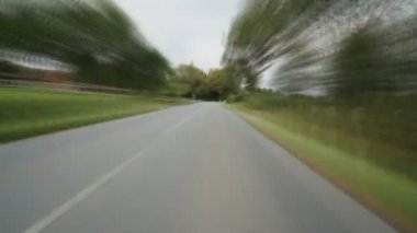 Drivin on side road in Germany — Stock Video