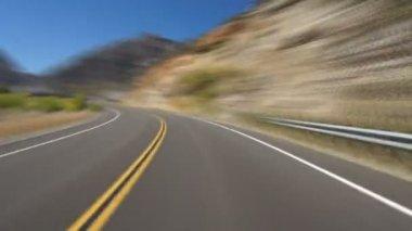 Yosemite, hızlandırılmış sürüş — Stok video