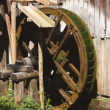 Stock Video: Watermill wheel