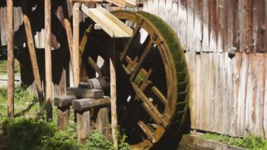 Watermill wheel — Stock Video