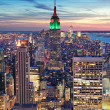 New York City Manhattan skyline aerial view — Stock Photo #13183365