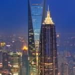 Shanghai aerial at dusk — Stock Photo #13183525