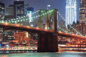 New York City Brooklyn Bridge closeup — Stock Photo