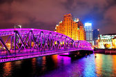 Shanghai Waibaidu bridge — Stock Photo
