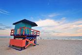 Puesta de sol de miami south beach — Foto de Stock