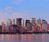 Centrum skyline van new york city manhattan — Stockfoto