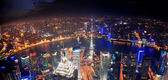Shanghai night aerial view — Stock Photo