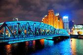 Shanghai Waibaidu bridge — Stock Photo