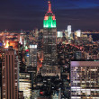 New York City Manhattan skyline aerial view — Stock Photo #13822213