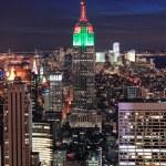 manhattan Nowy Jork gród ptaka — Zdjęcie stockowe